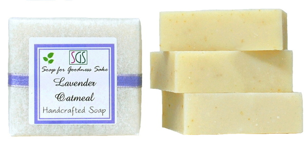Organic Lavender Oatmeal Soap by Soap for Goodness Sake