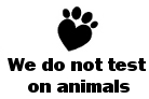 We do not test on animals